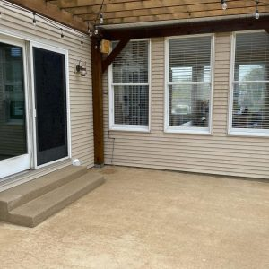 patio cleaning after pressure washing edwardsville illinois